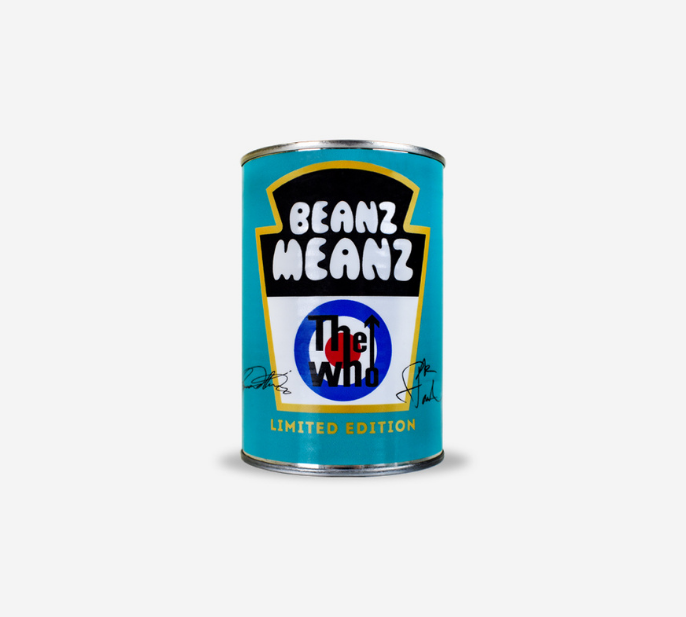 Photograph of Beanz Meanz The Who (Signed) 415g Can product