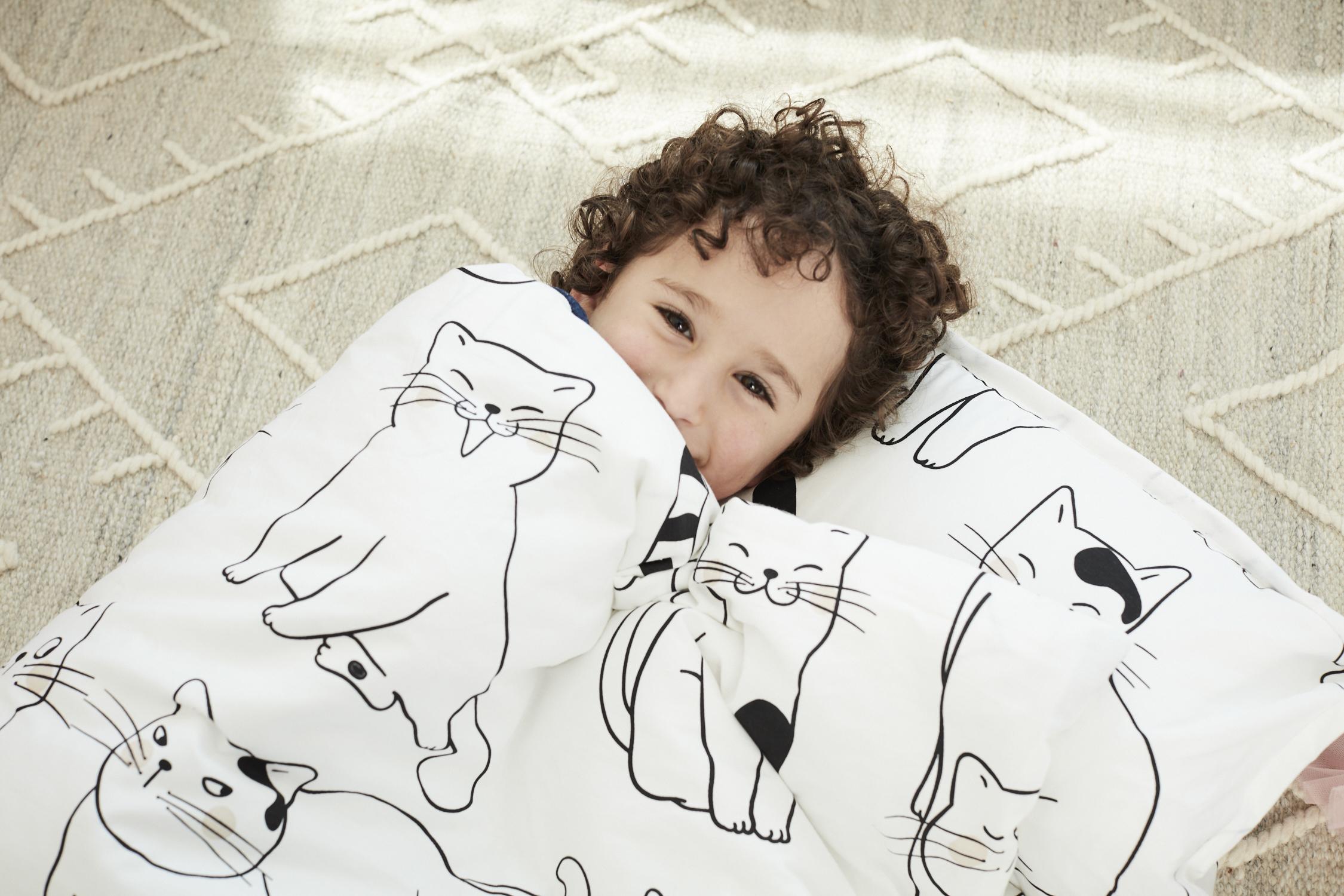 White Cat Cotton Kids Nap Mat