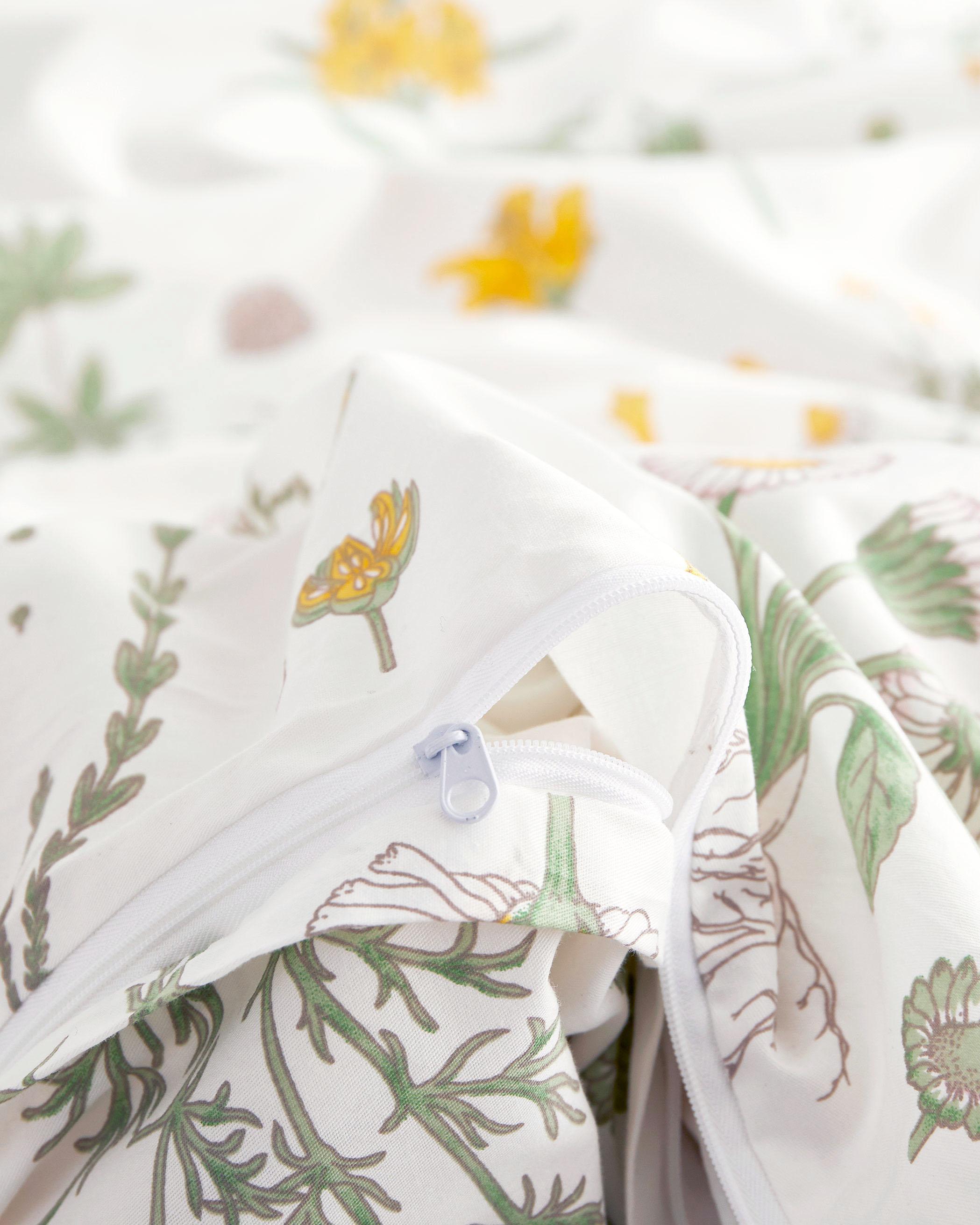 Botanical Cotton Duvet Cover Set