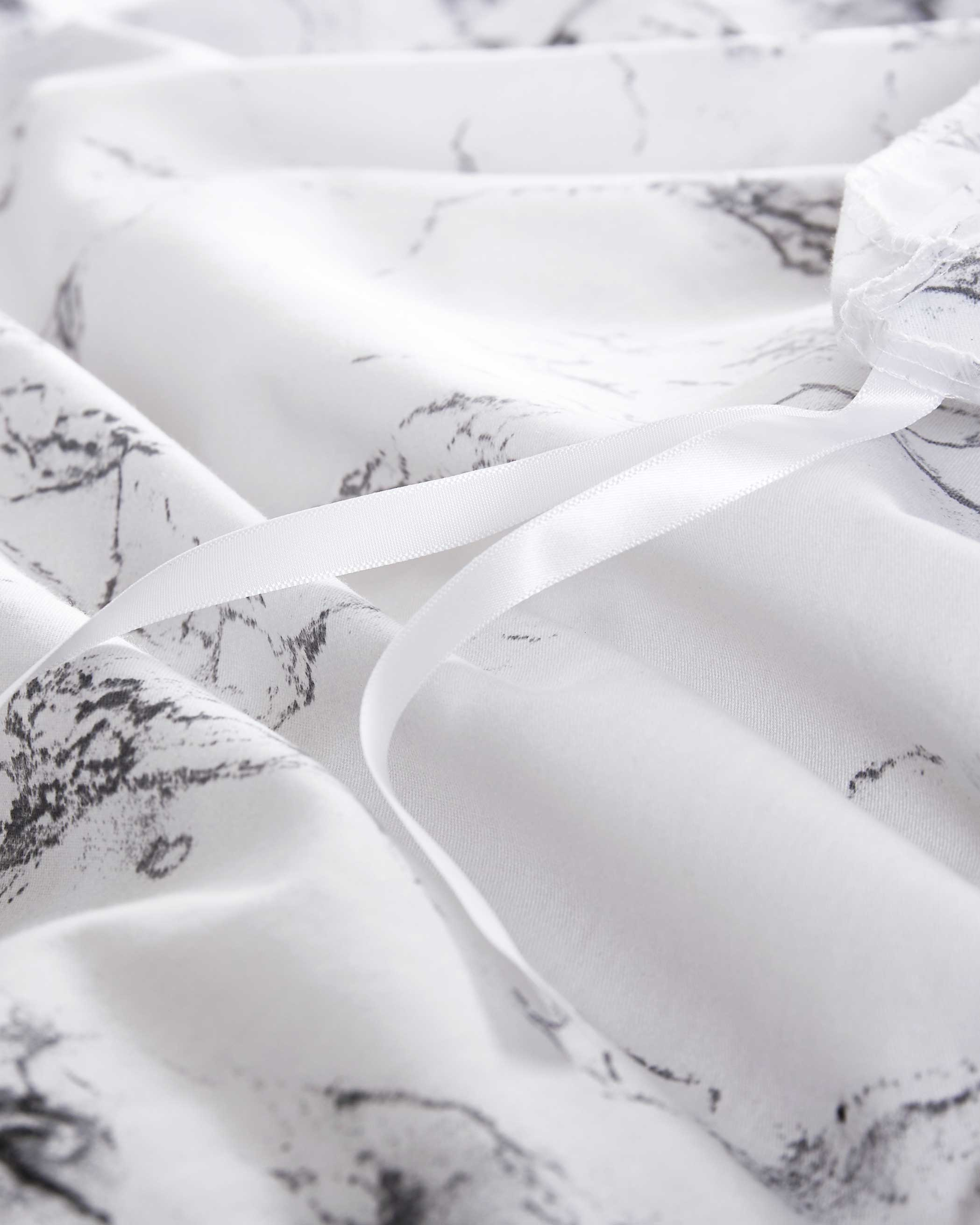 Marble Microfiber Duvet Cover Set