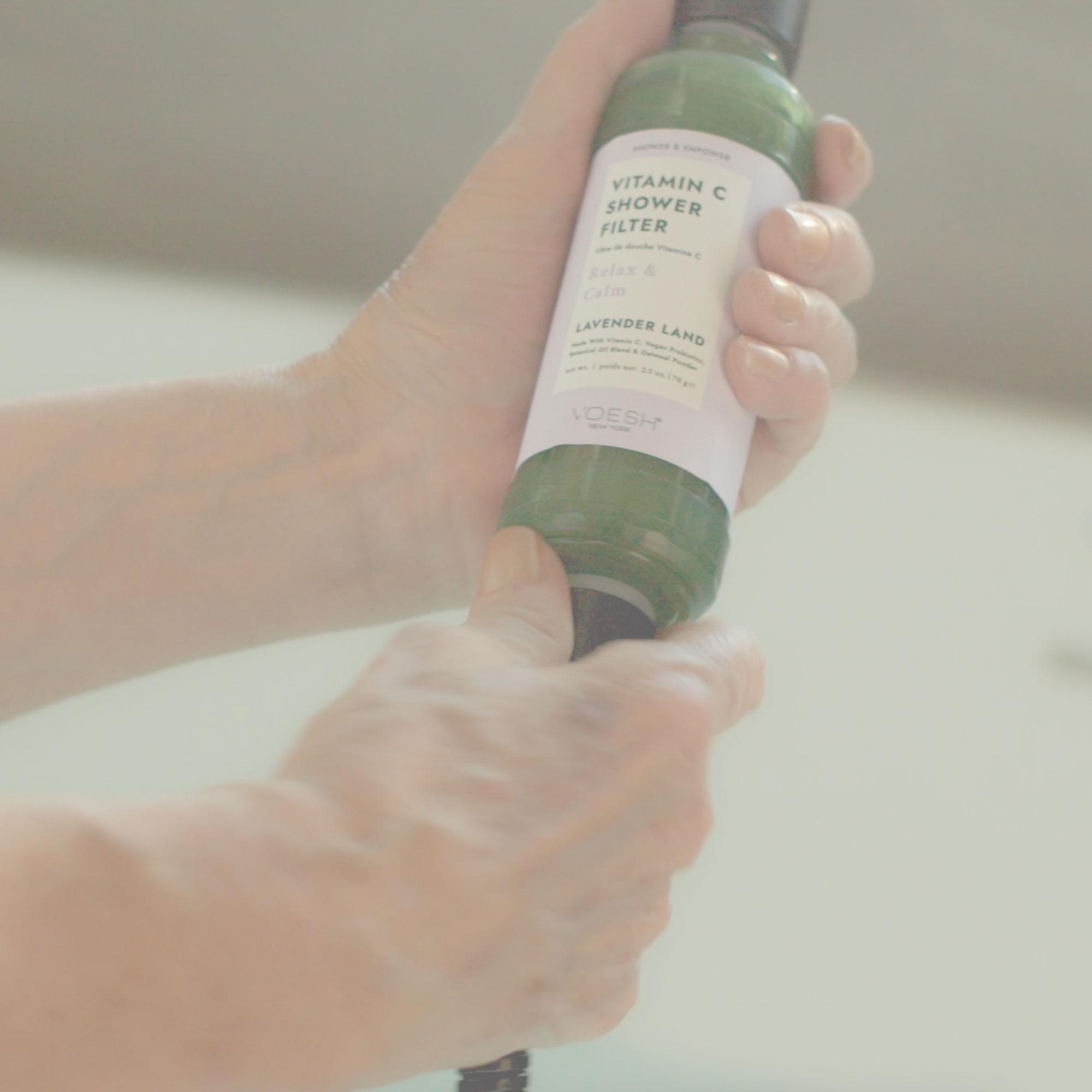 Lavender Land Vitamin C Shower Filter