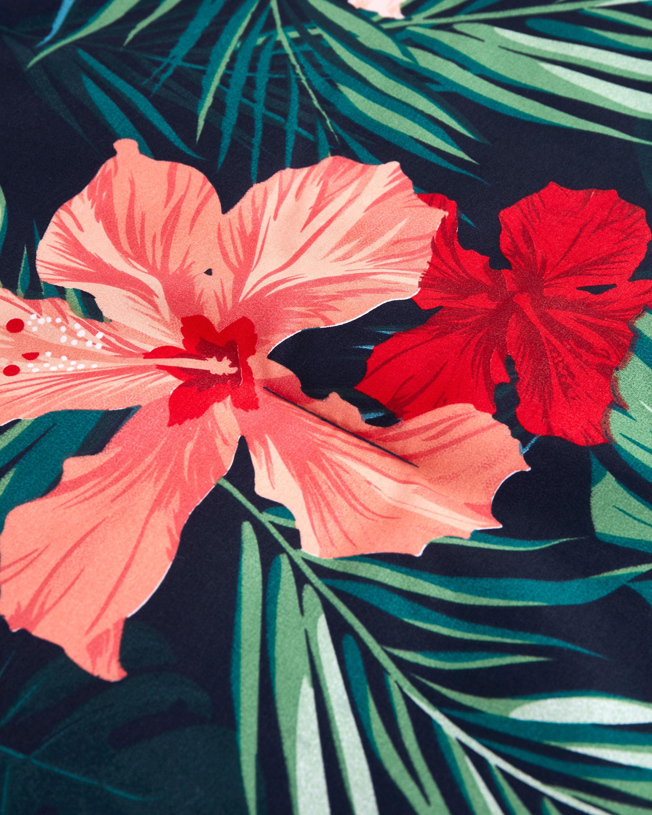 Tropical Floral Microfiber Comforter Set