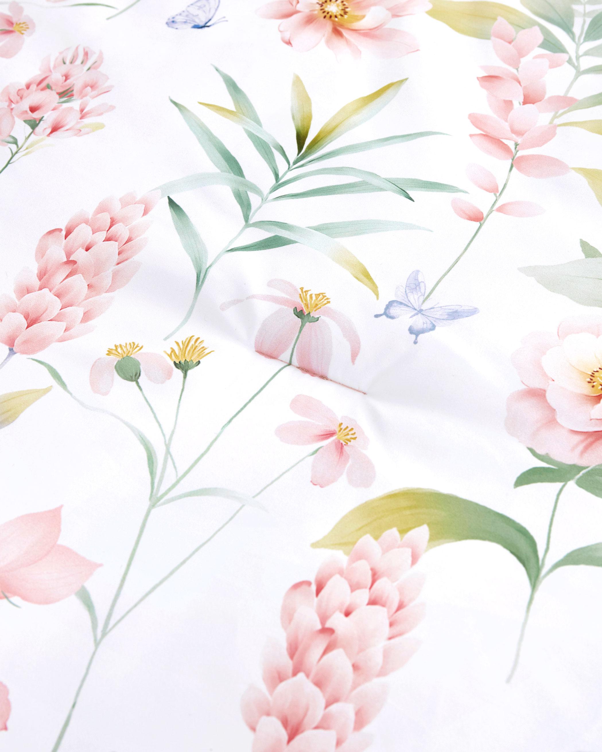 Pink Floral Microfiber Comforter Set