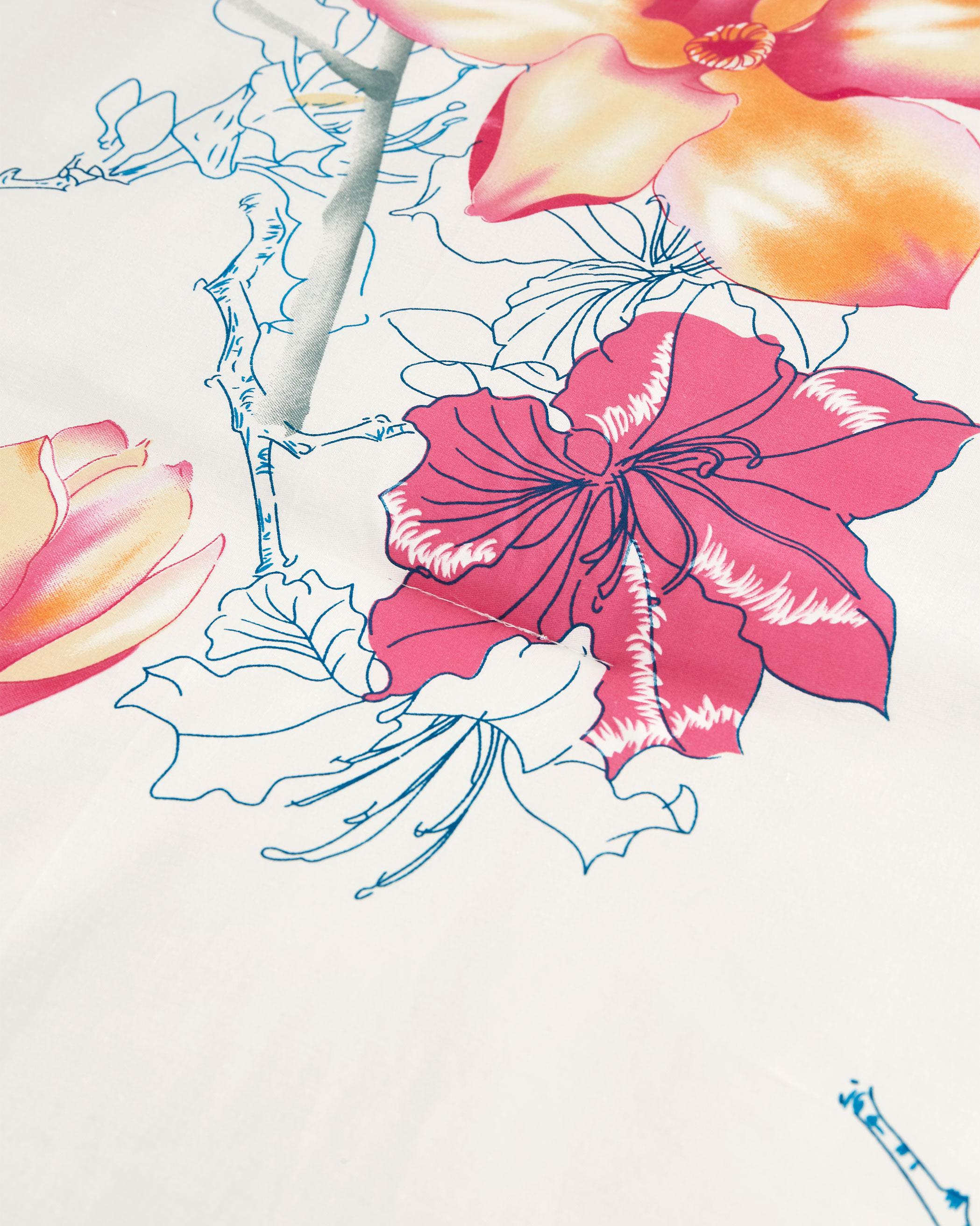 Floral Birds Cotton Comforter Set