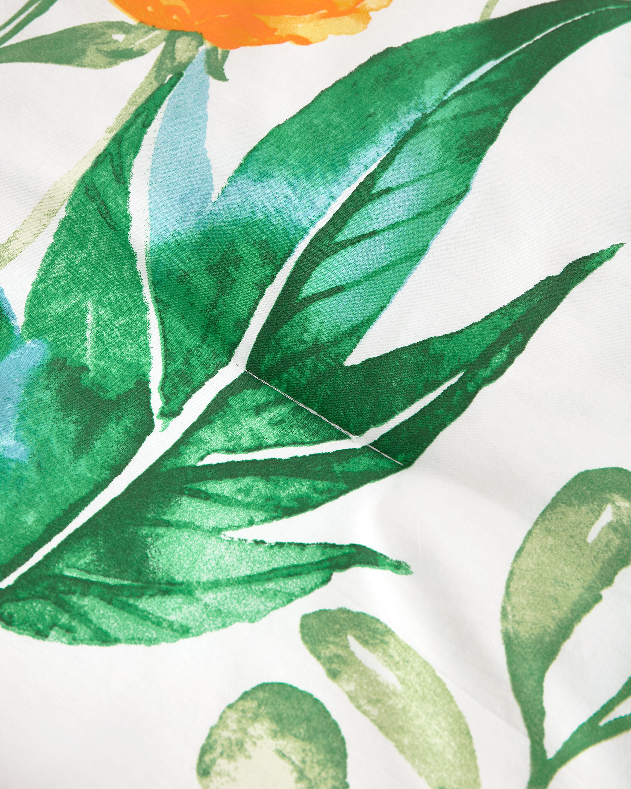 Green Leaves Cotton Comforter Set