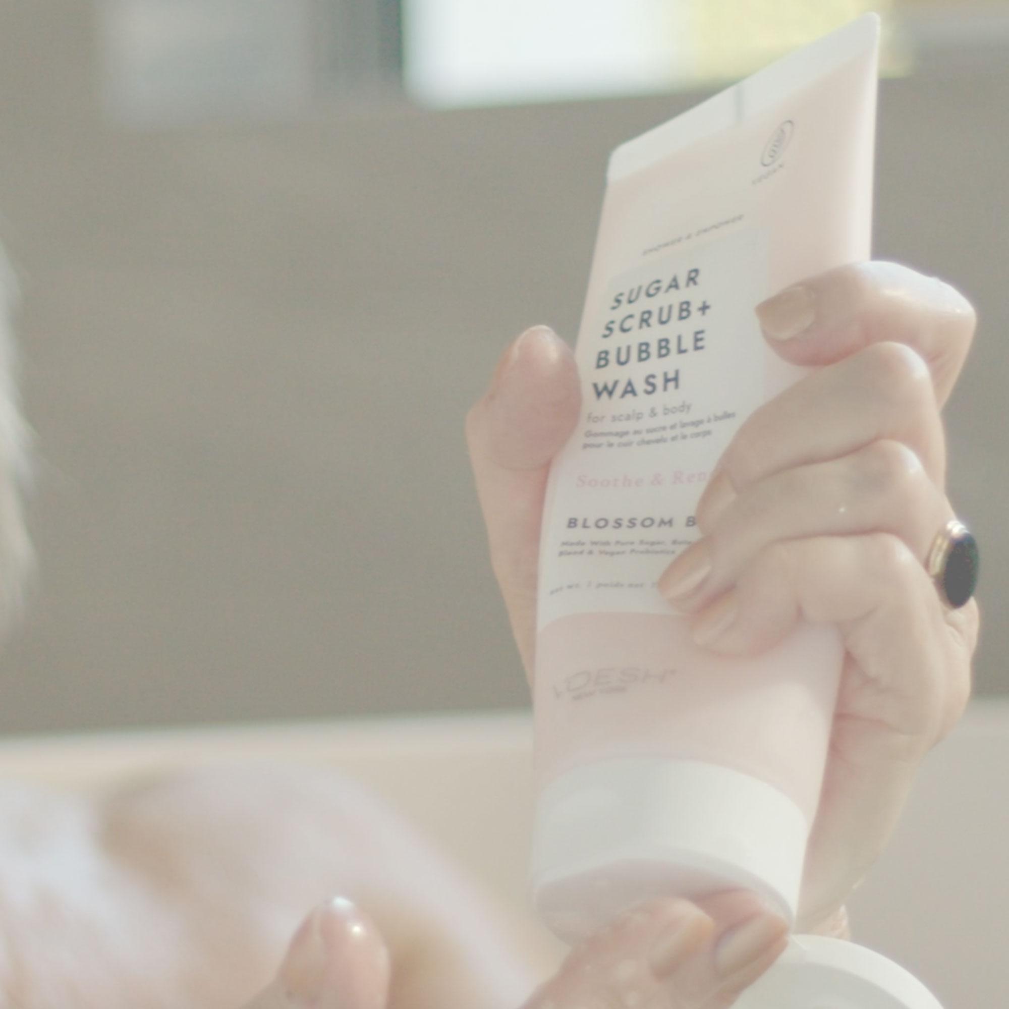Blossom Bliss Sugar Scrub + Bubble Wash For Scalp & Body