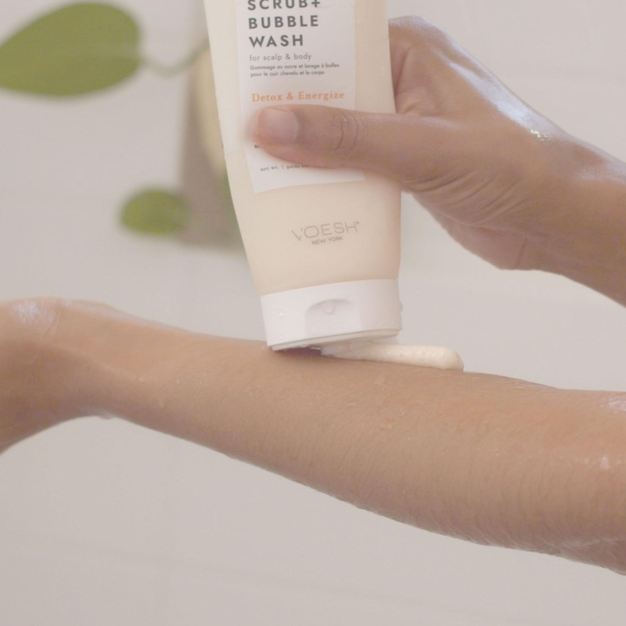 Citrus Crush Sugar Scrub + Bubble Wash For Scalp & Body