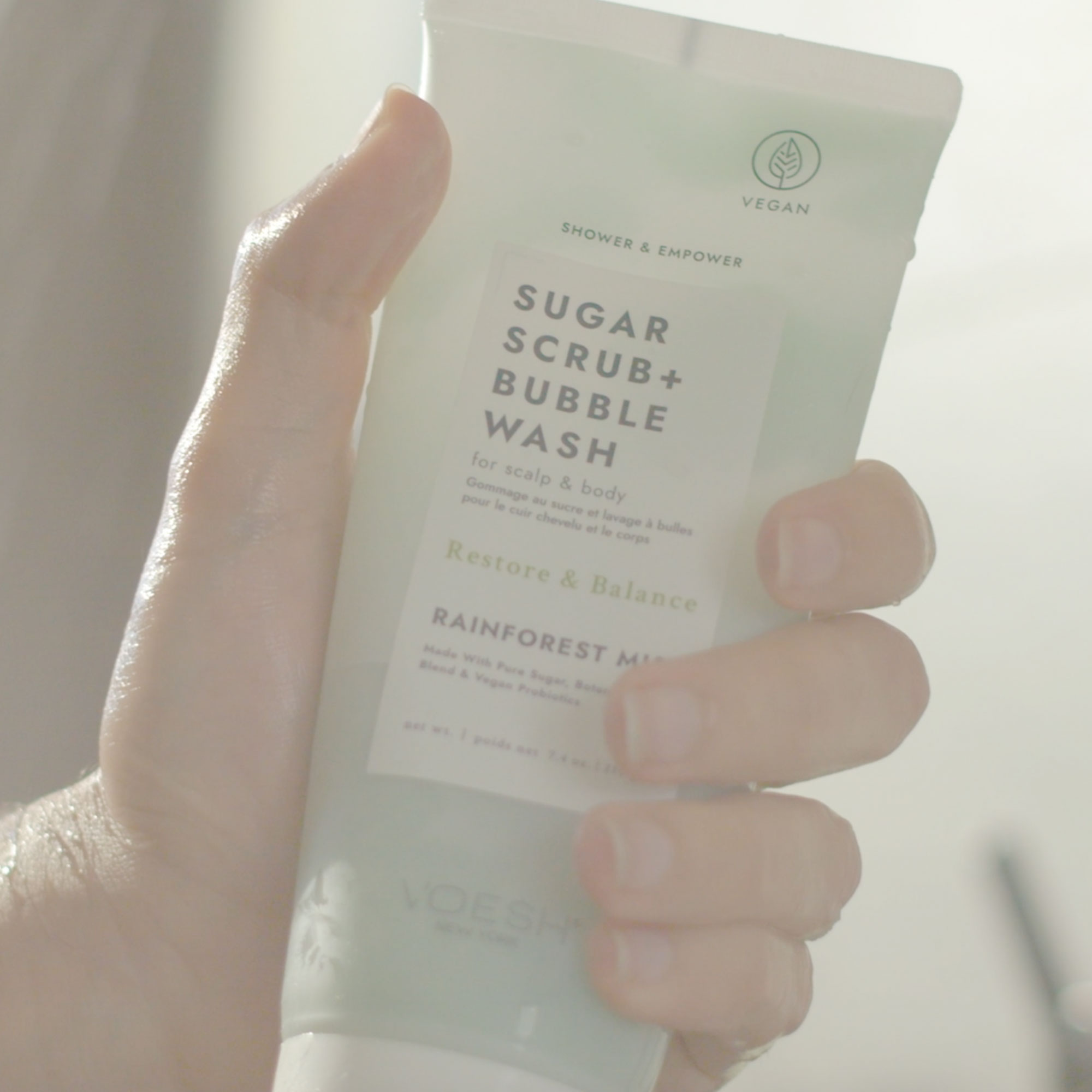 Rainforest Mist Sugar Scrub + Bubble Wash For Scalp & Body