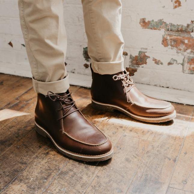 The Whalen Brown being worn