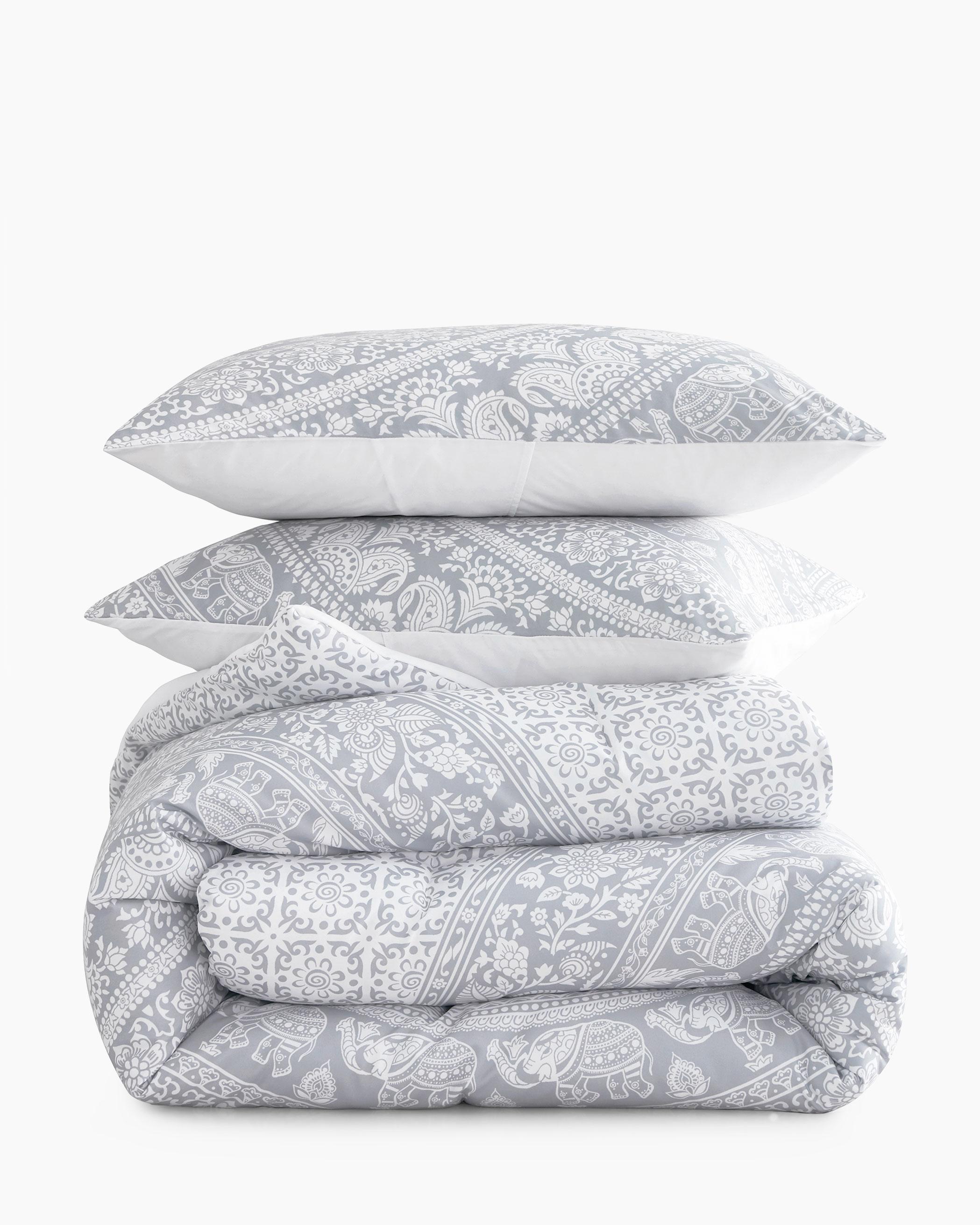 Gray Mandala Microfiber Comforter Set