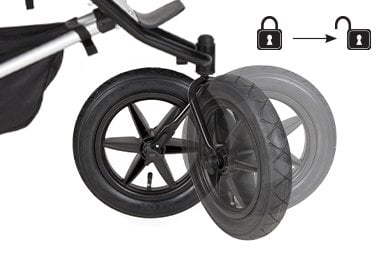 lockable front wheel