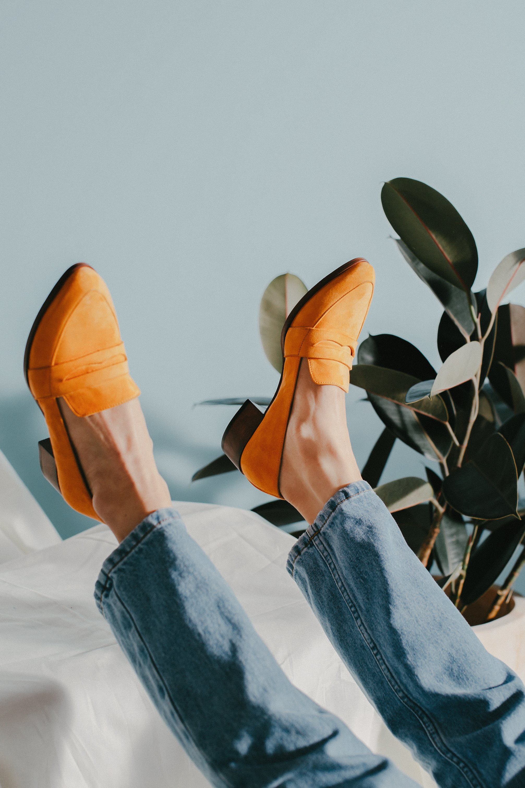 Thelma Loafer in Tangelo