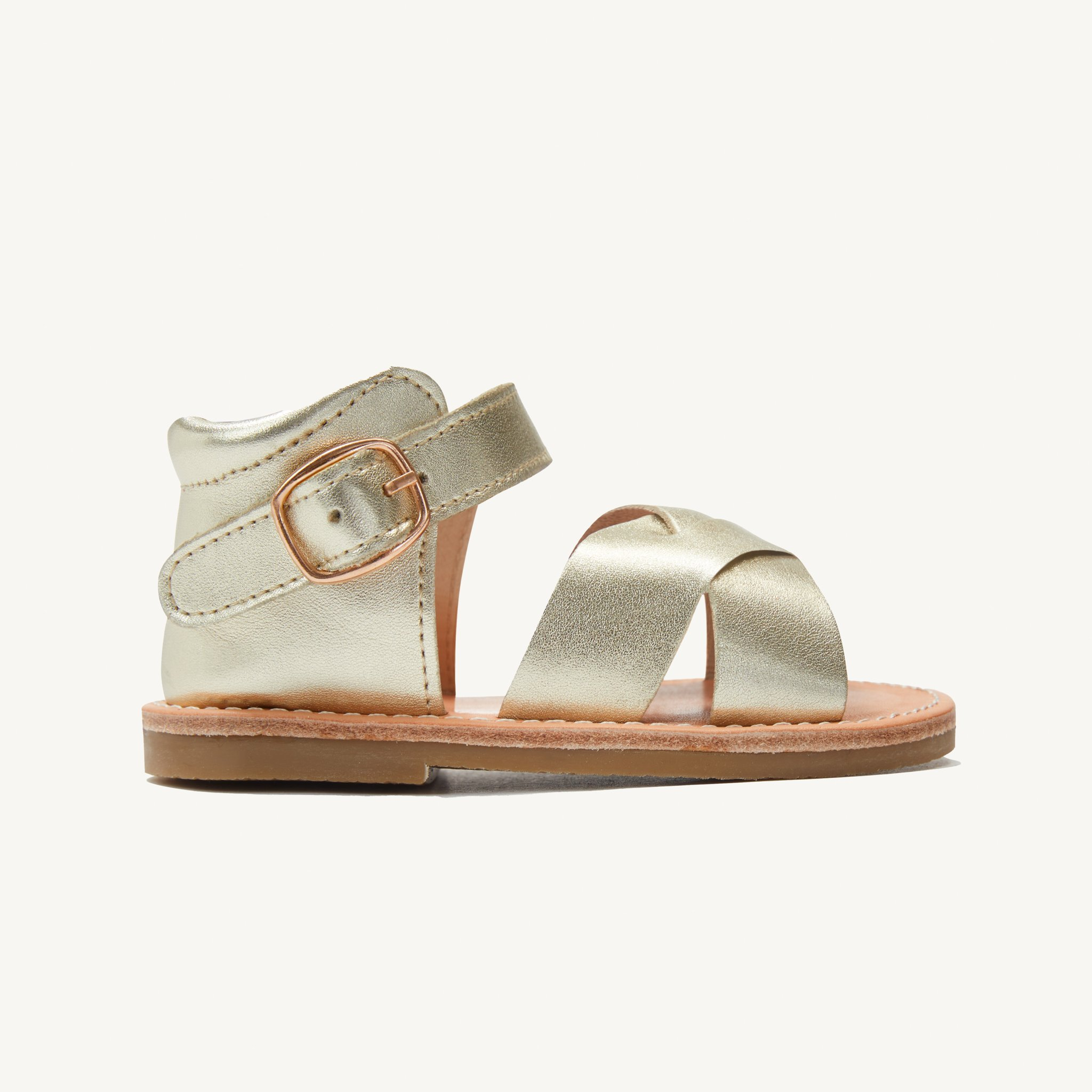 poppy gold leather toddler sandals