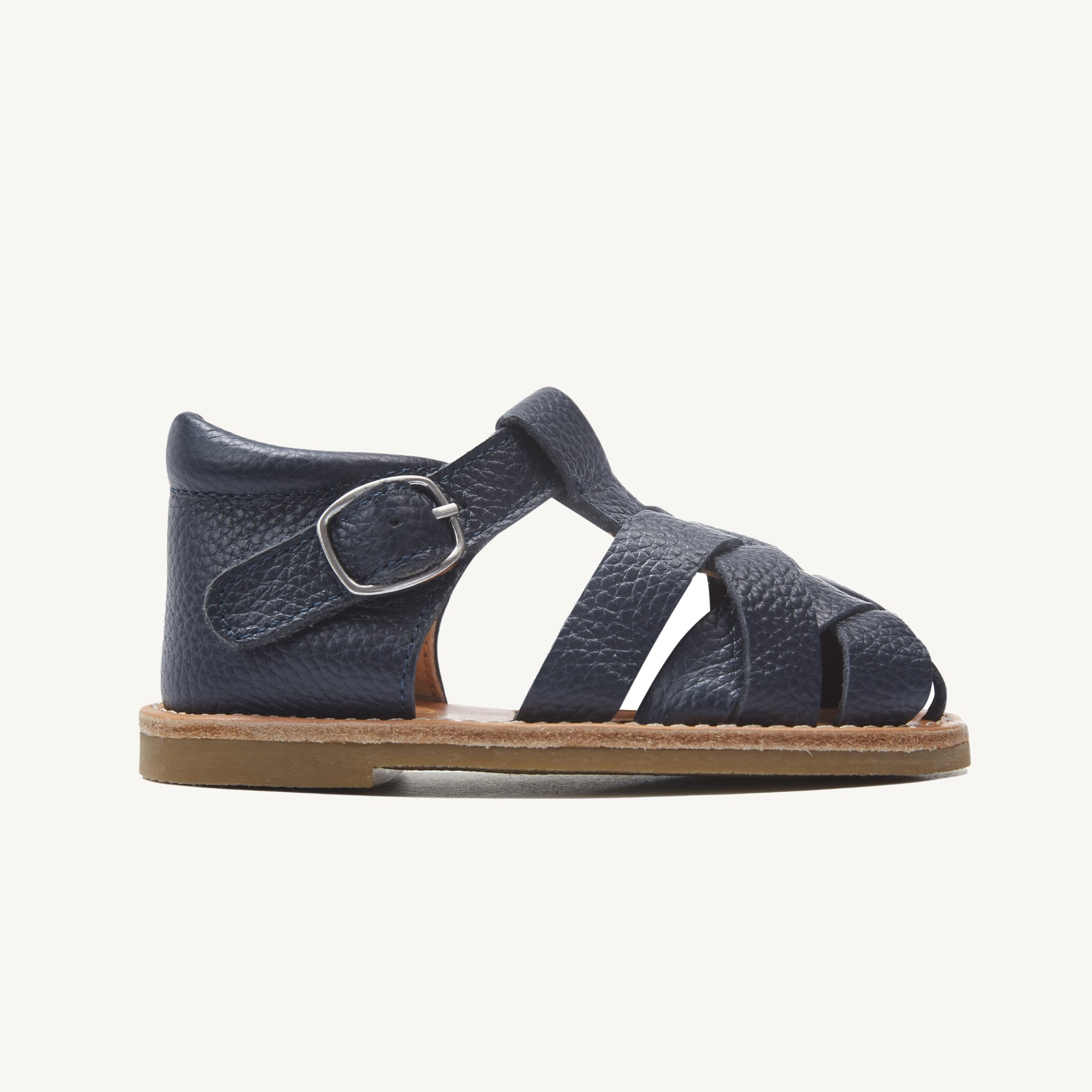 rylee navy leather toddler sandals
