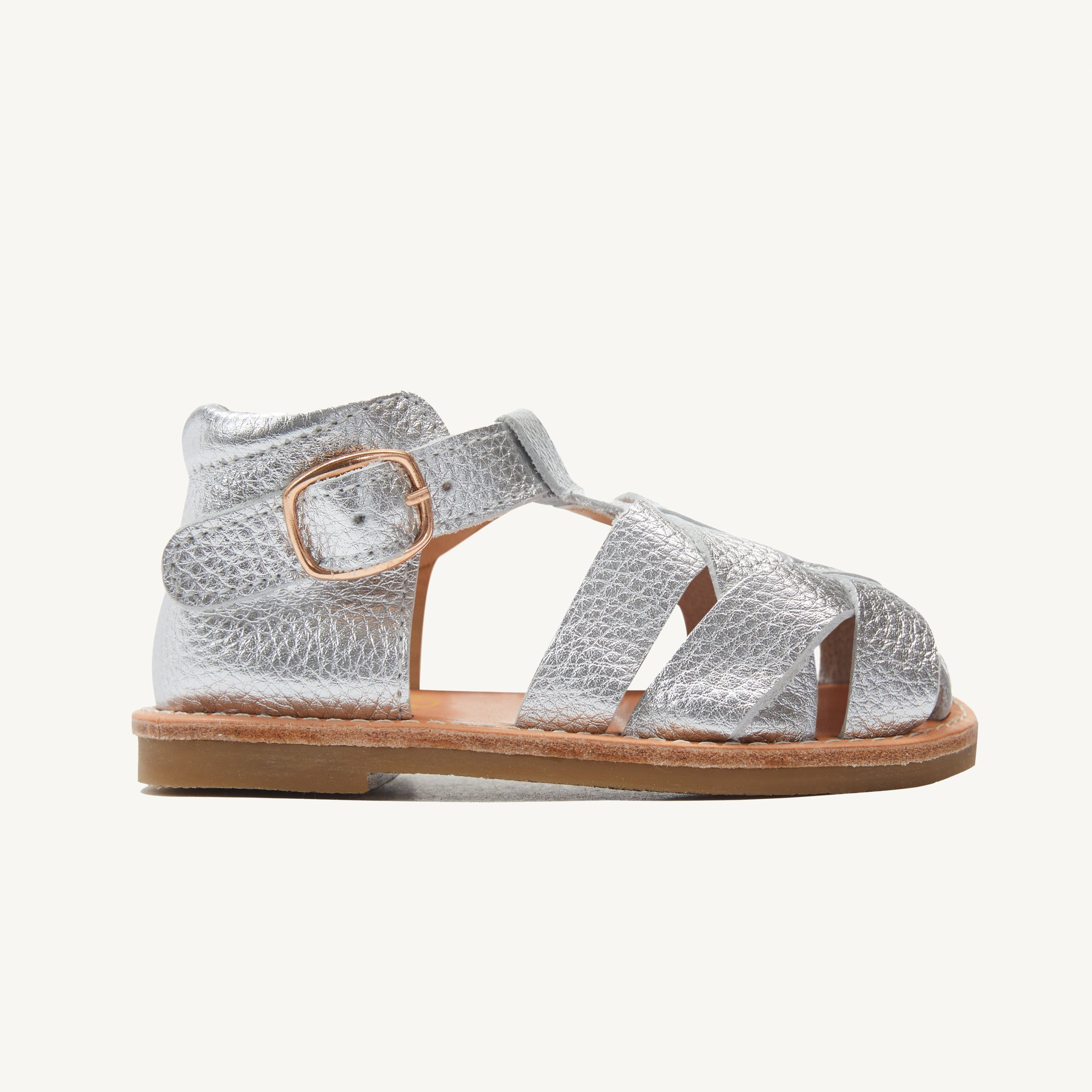rylee silver leather toddler sandals