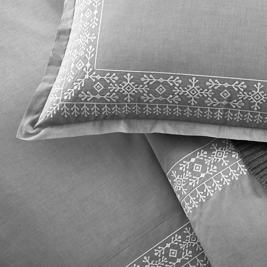 Chambray Embroidered Cottonfield Duvet Set