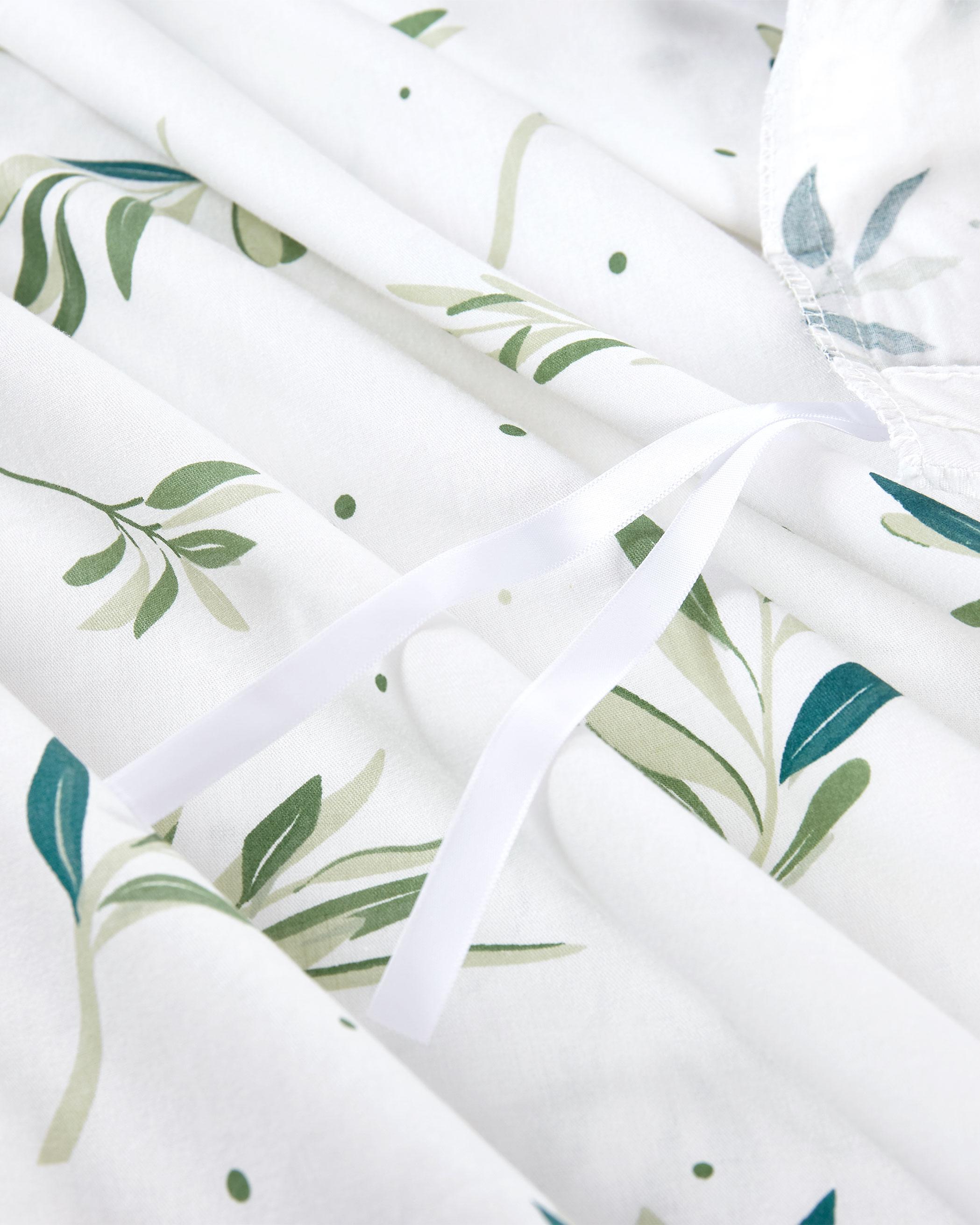 Tree Leaves Cotton Duvet Cover Set