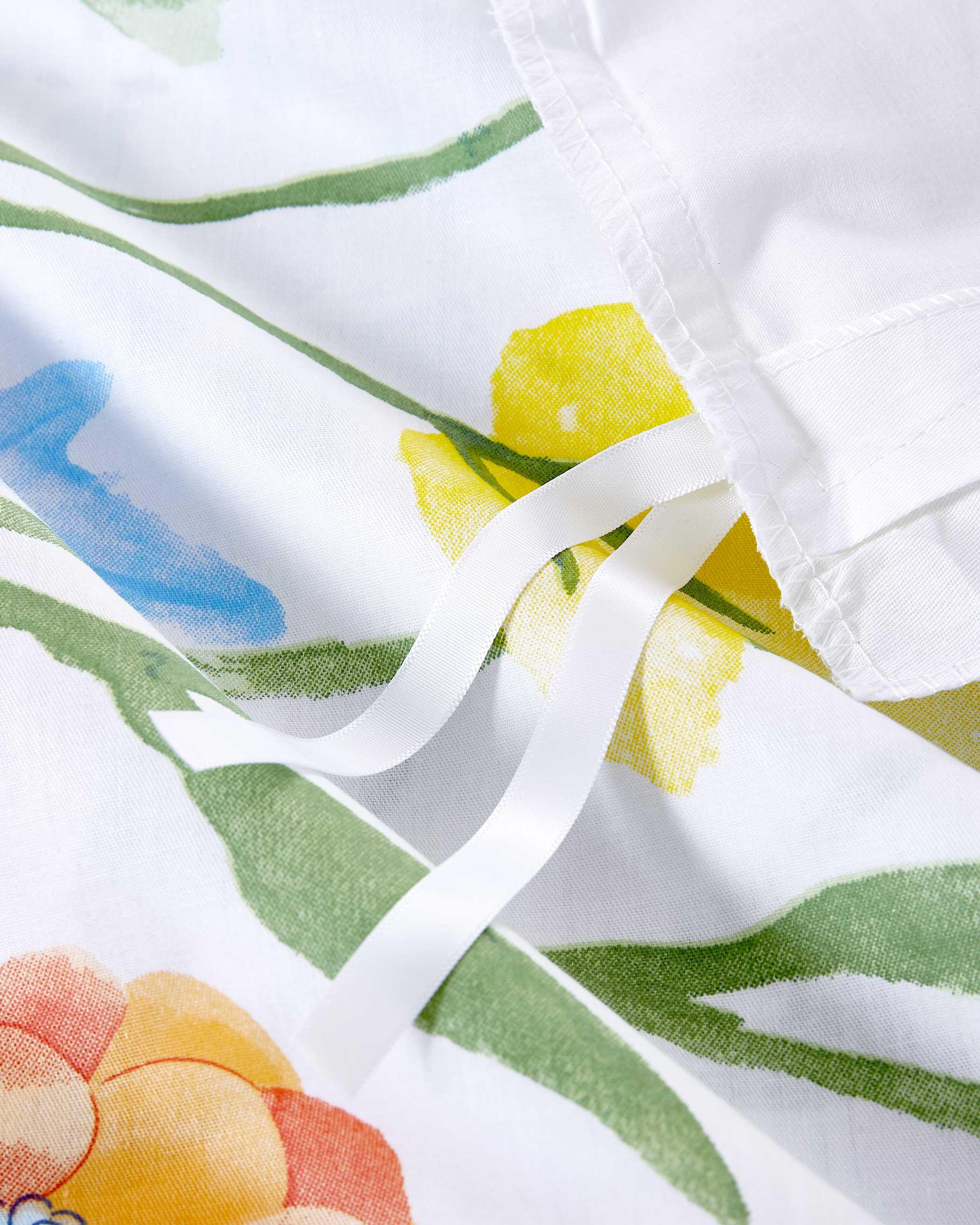 Watercolor Floral Cotton Duvet Cover Set