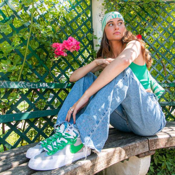 Nike Blazer Low Sacai Medium Grey Classic Green - DD1877-001