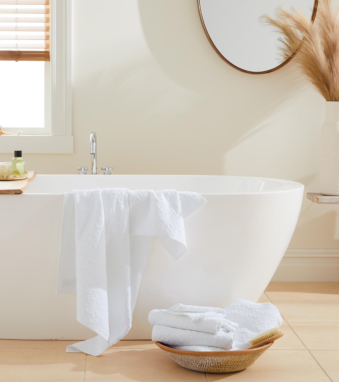 Cotton Tile Bath Sheet Set | Boll & Branch ®