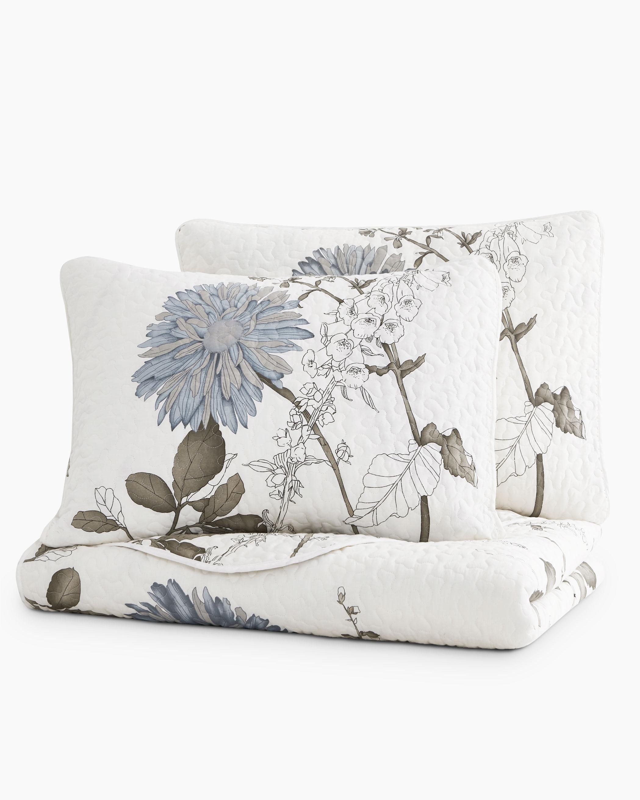 Floral Cotton Quilt Set