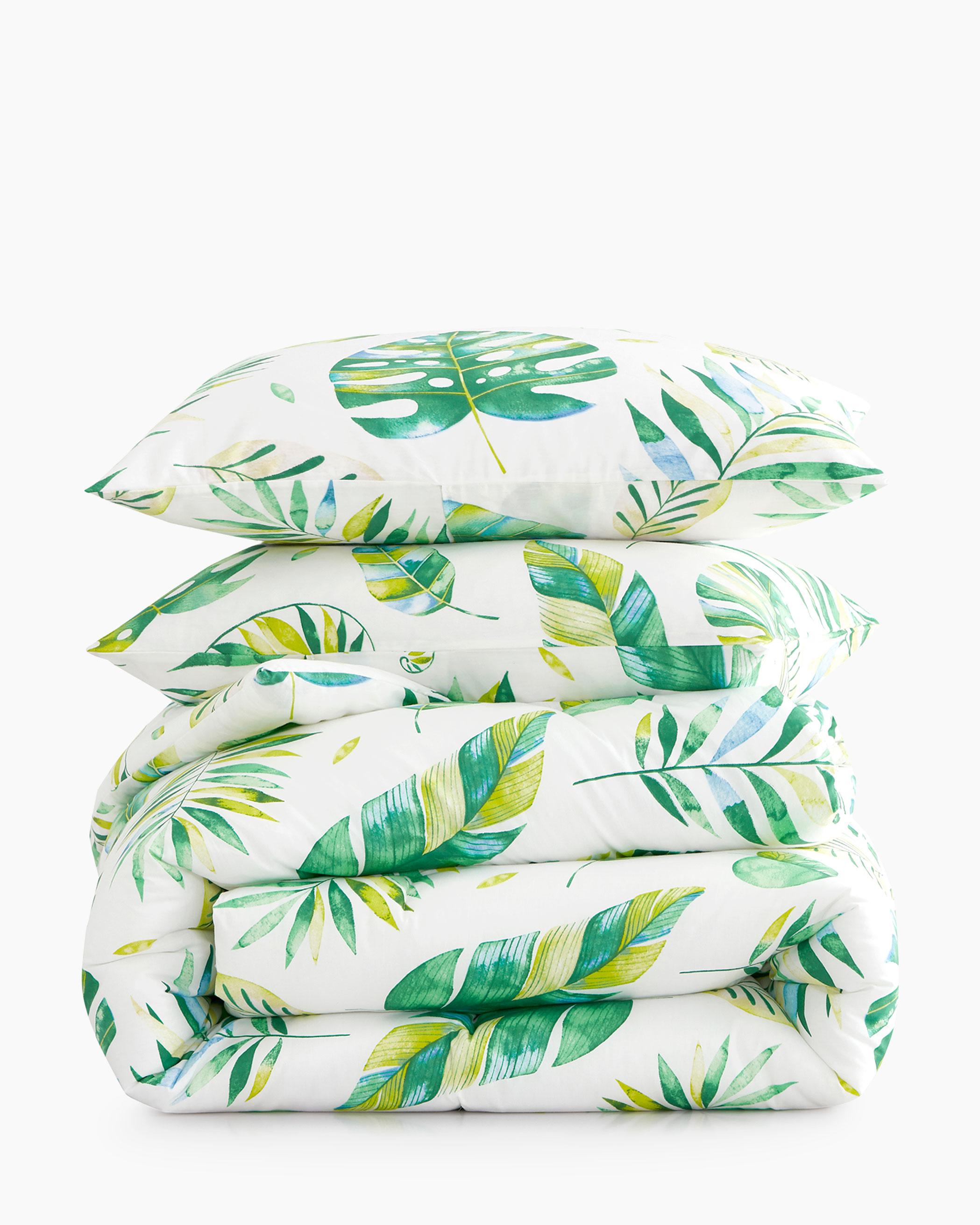 Tree Leaves Cotton Comforter Set