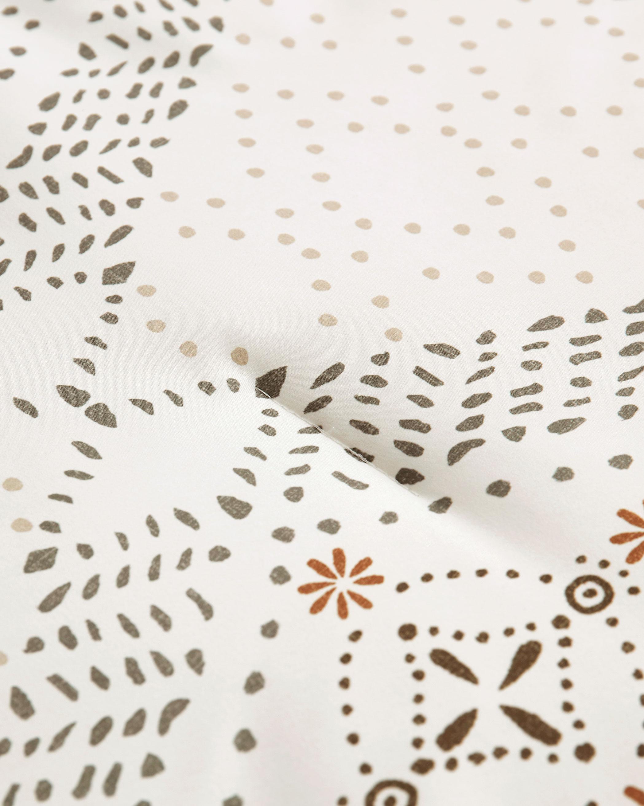 Beige Bohemian Microfiber Comforter Set