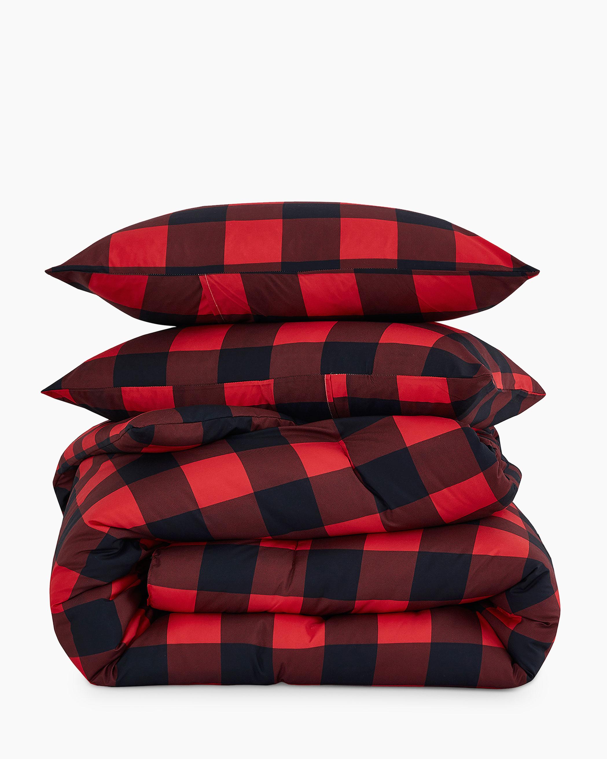 Red Buffalo Check Microfiber Comforter Set