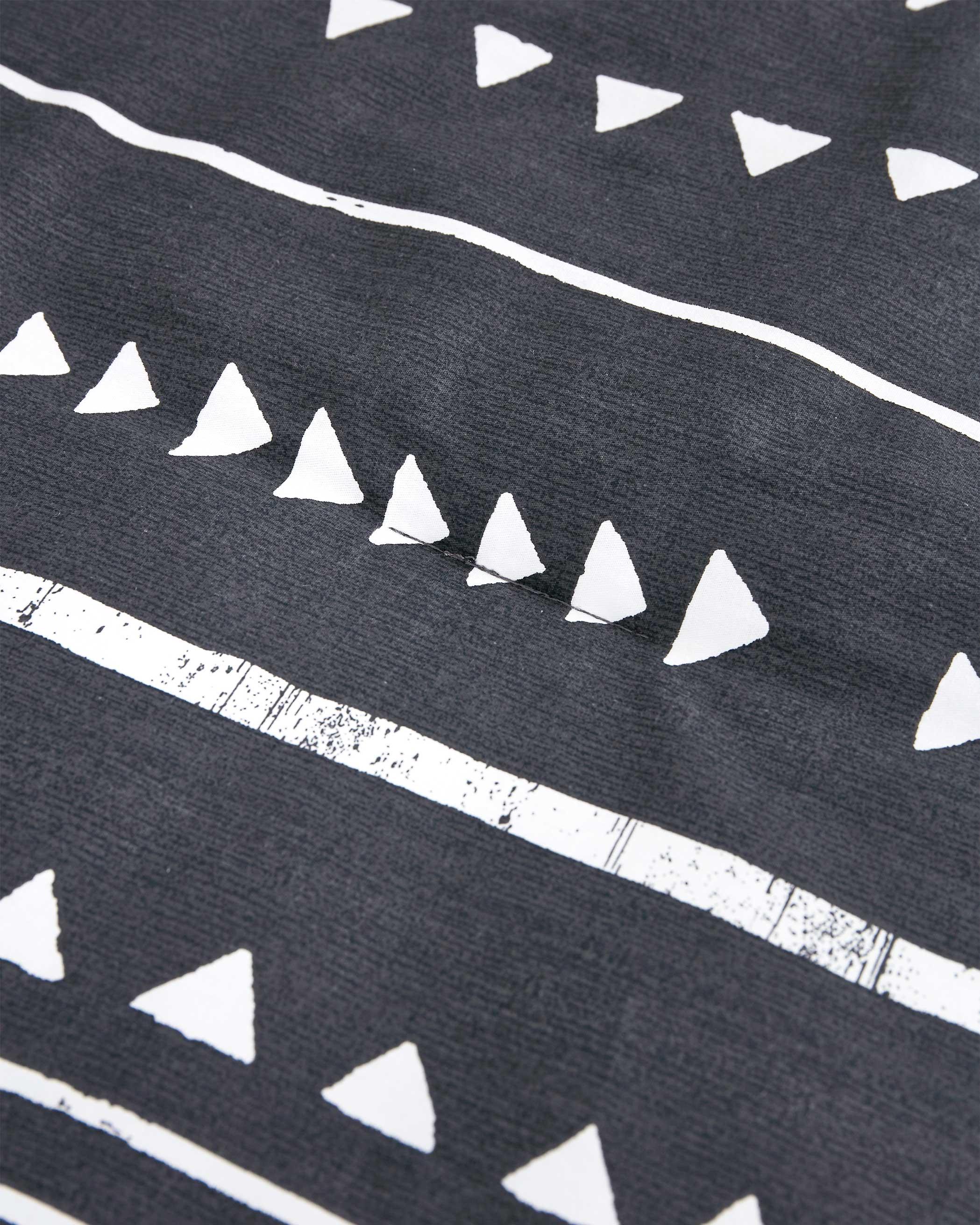 Dark Gray Aztec Cotton Comforter Set