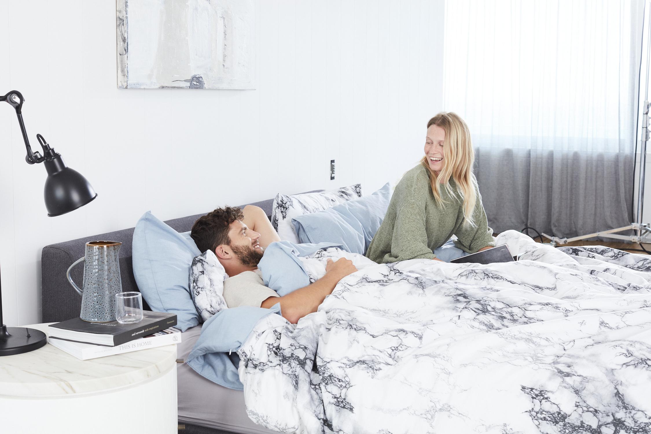 Blue Marble Microfiber Comforter Set