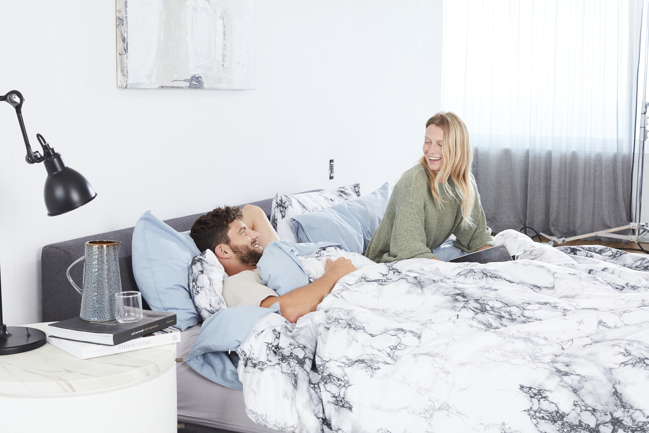 Pink Marble Microfiber Comforter Set