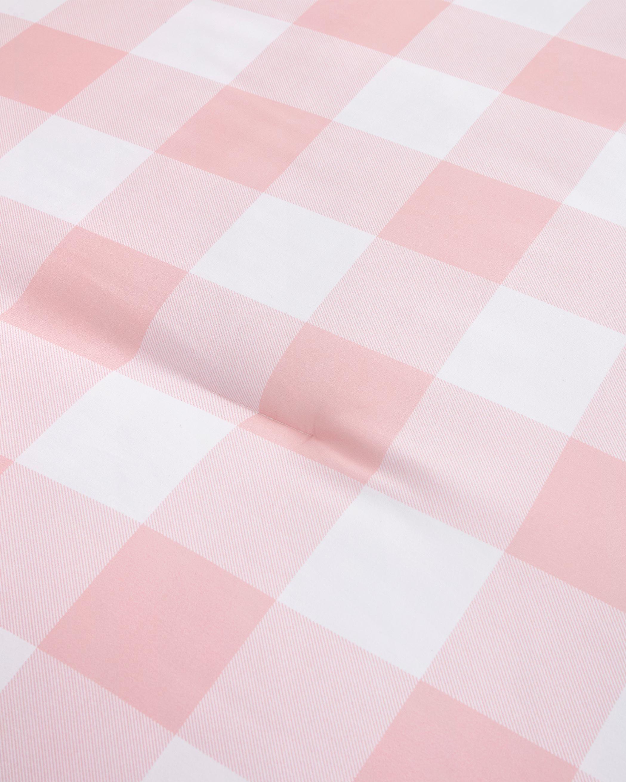 Pink Buffalo Check Microfiber Comforter Set