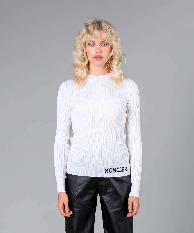 Women's Rib Knit Wool Sweater