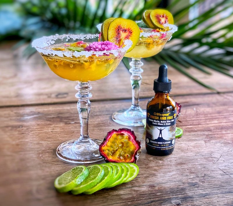Tropical Pineapple and Lime Mocktail