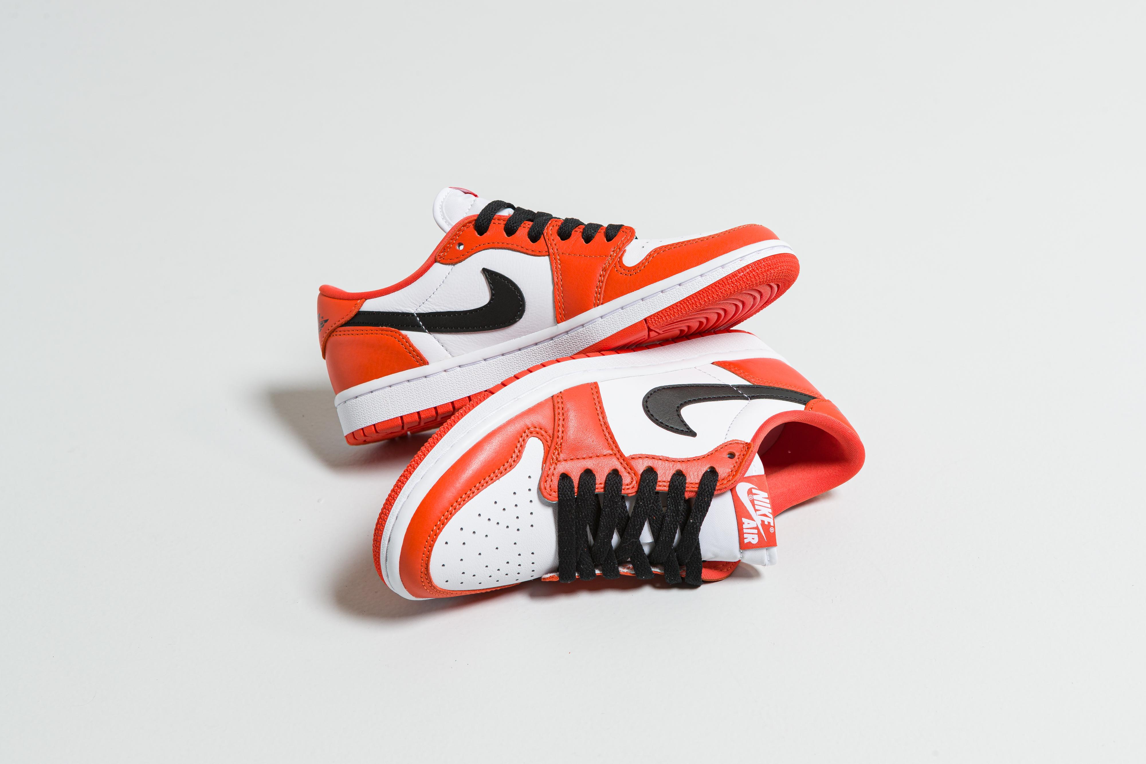 Jordan - Womens Air Jordan 1 Low OG - Orange/Black-White - Up There