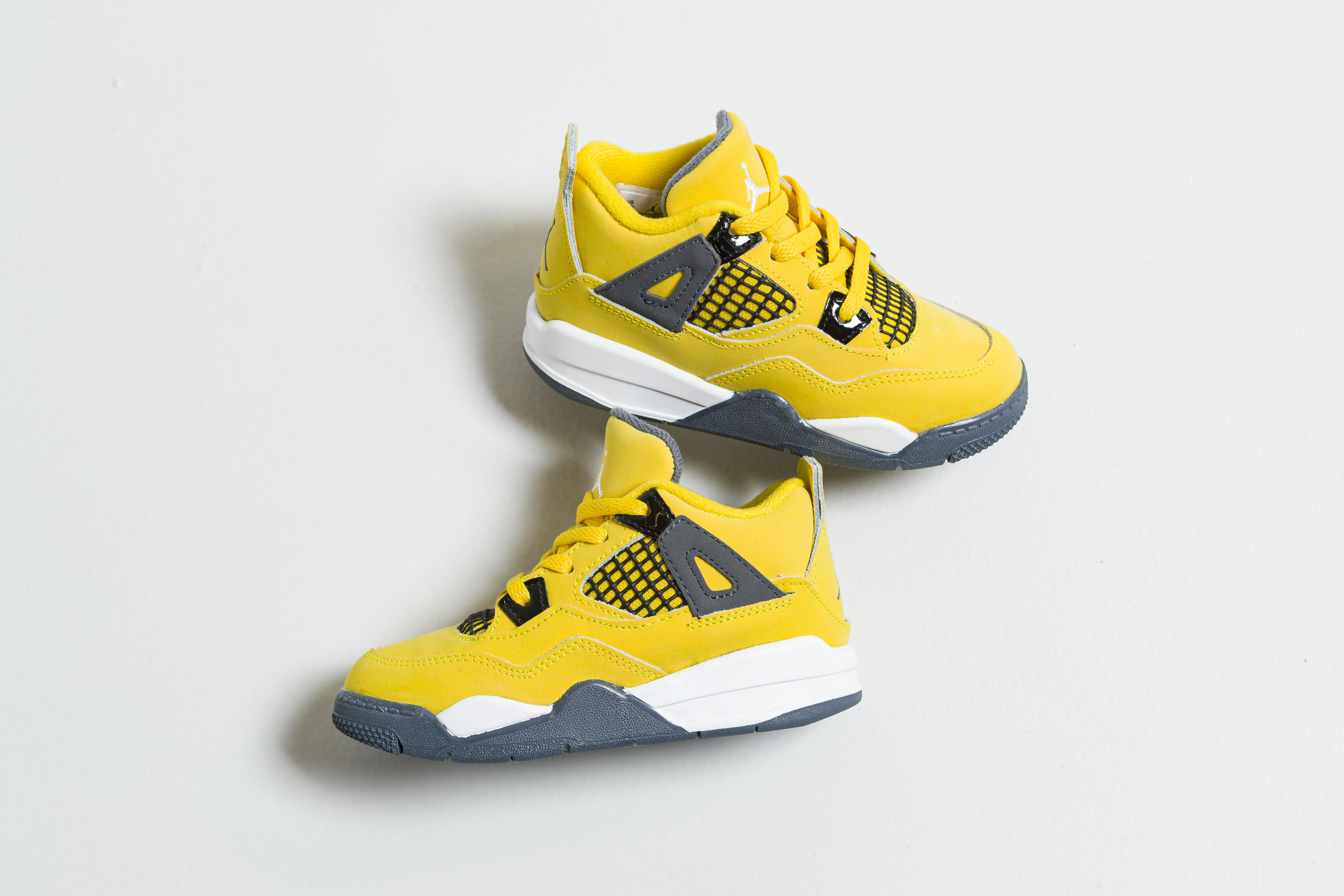 Jordan - Air Jordan 4 Retro (TD) - Tour Yellow/Dark Blue Grey-White - Up There