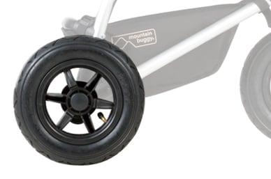 """10"""" luftgefüllte Reifen, für eine echte Allround-Performance terrain, 3-Rad"""