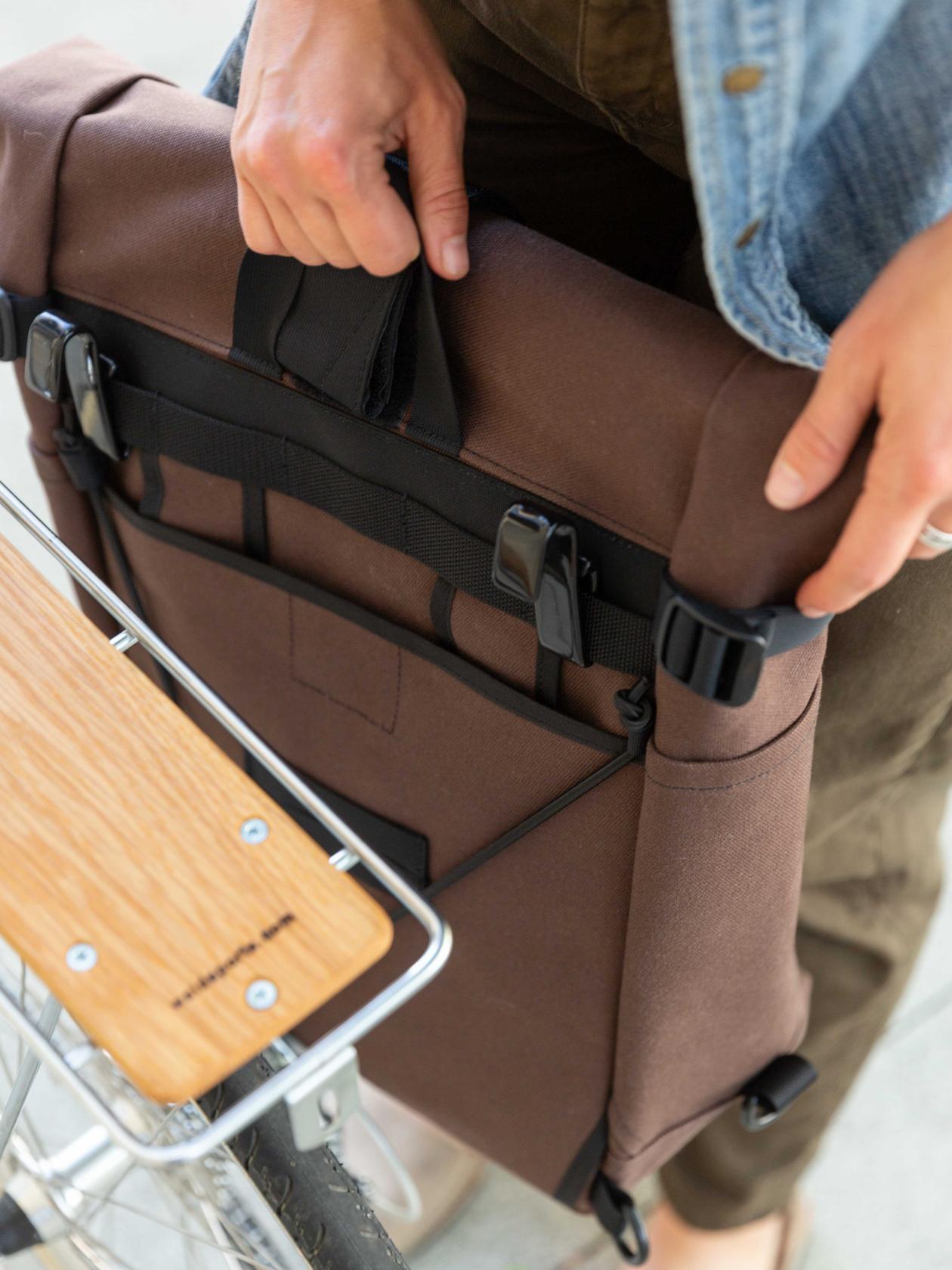 2 Way Backpack / Pannier, Brown