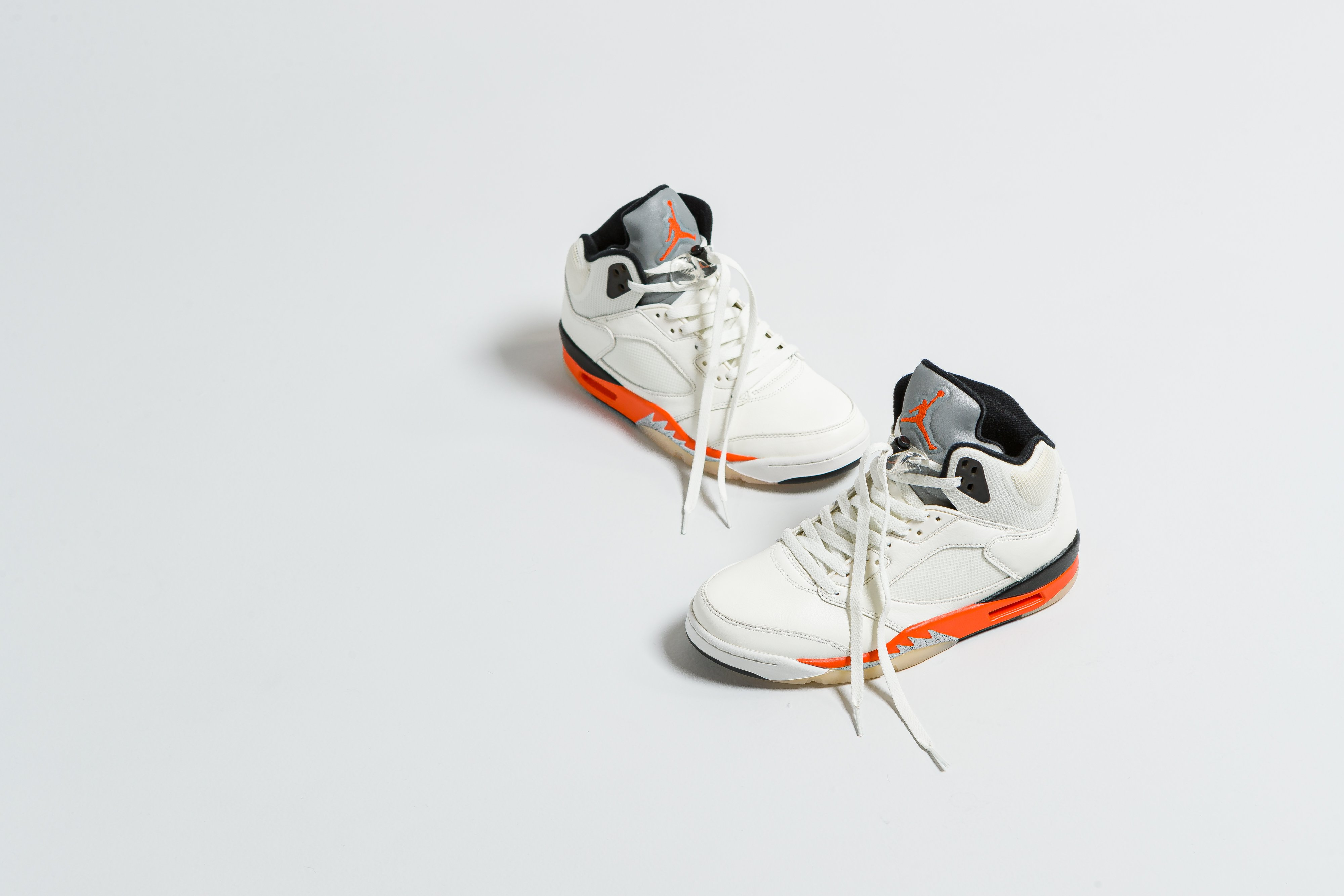 Nike - Air Jordan 5 Retro - Sail/Orange Black-Metallic Silver-Black - Up There