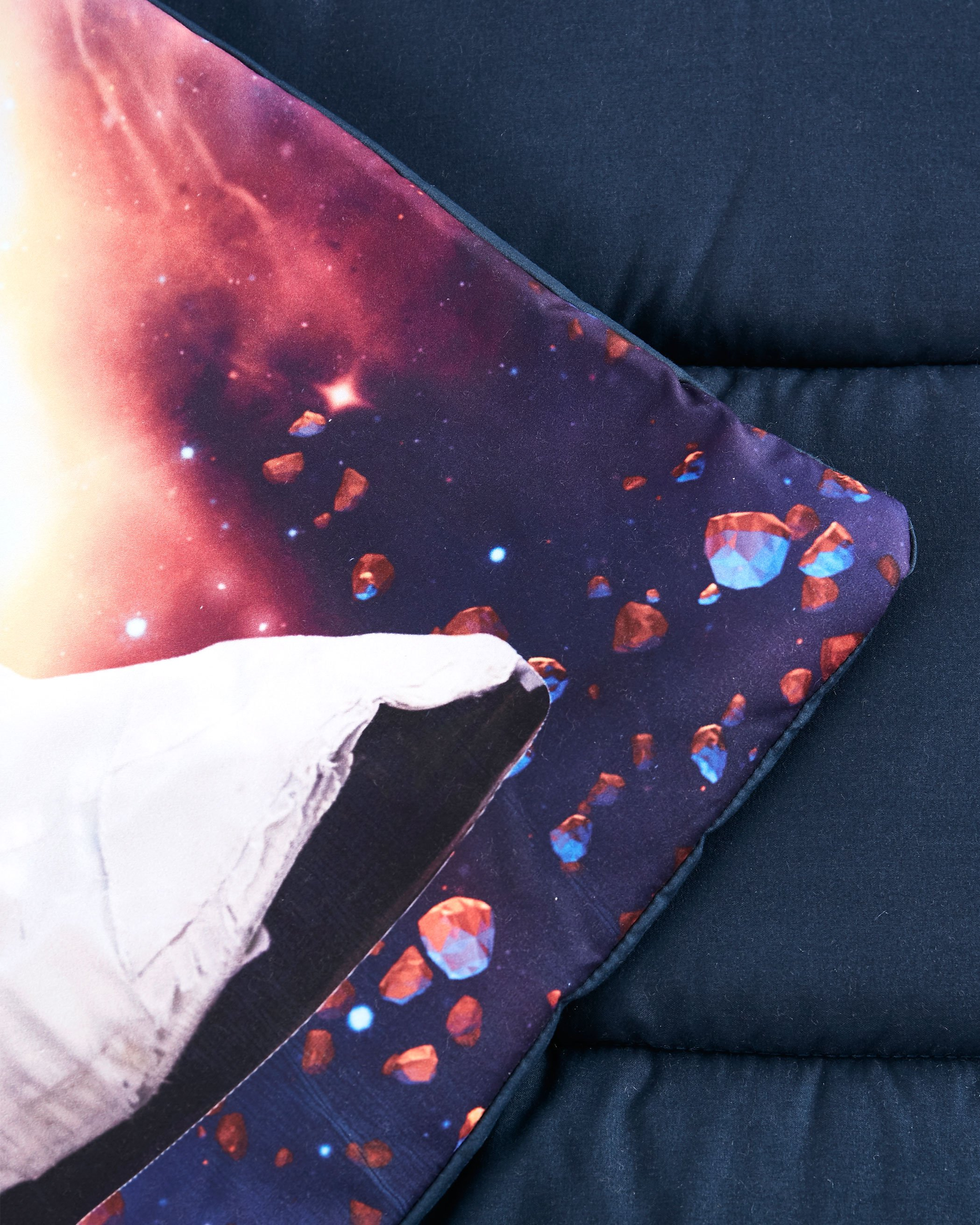 Astronaut on Navy Blue Microfiber Kids Nap Mat
