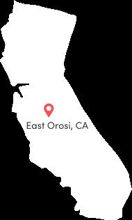 East Orosi, CA