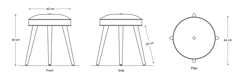 Model 00 Dimensions Drawing