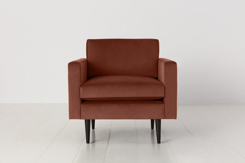 Model 01 Armchair in Brick Velvet