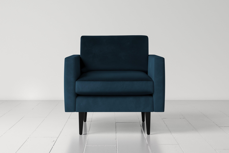 Model 01 Armchair in Teal Velvet