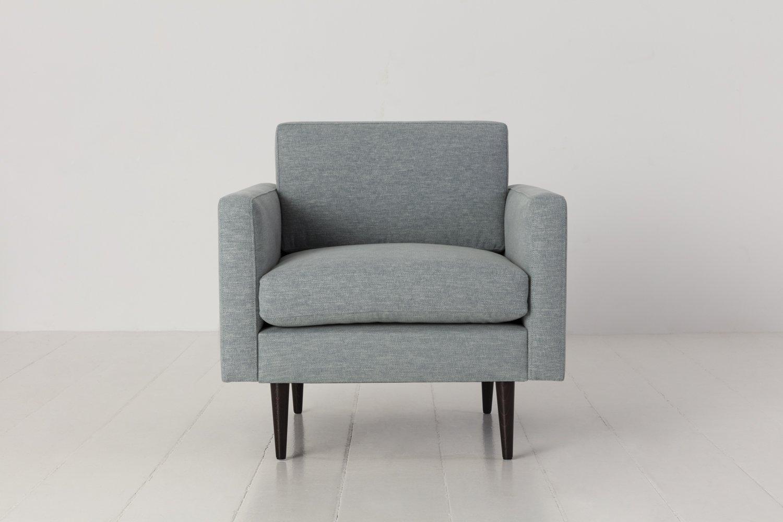 Model 01 Armchair in Seaglass Linen