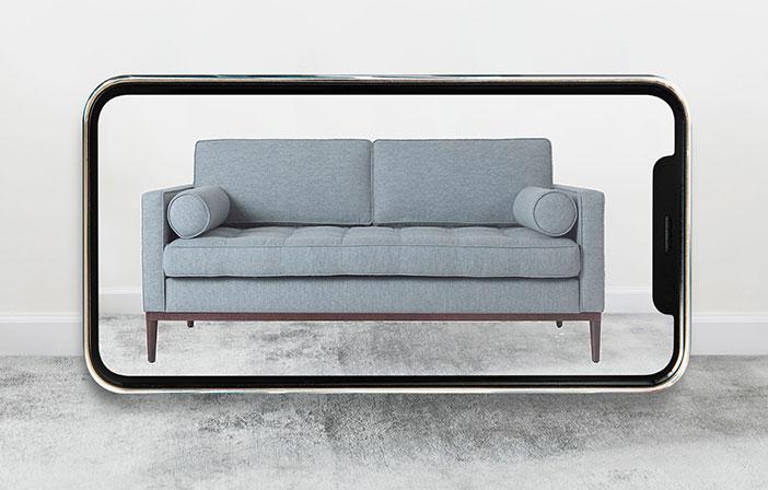 Model 02 sofa in AR viewer