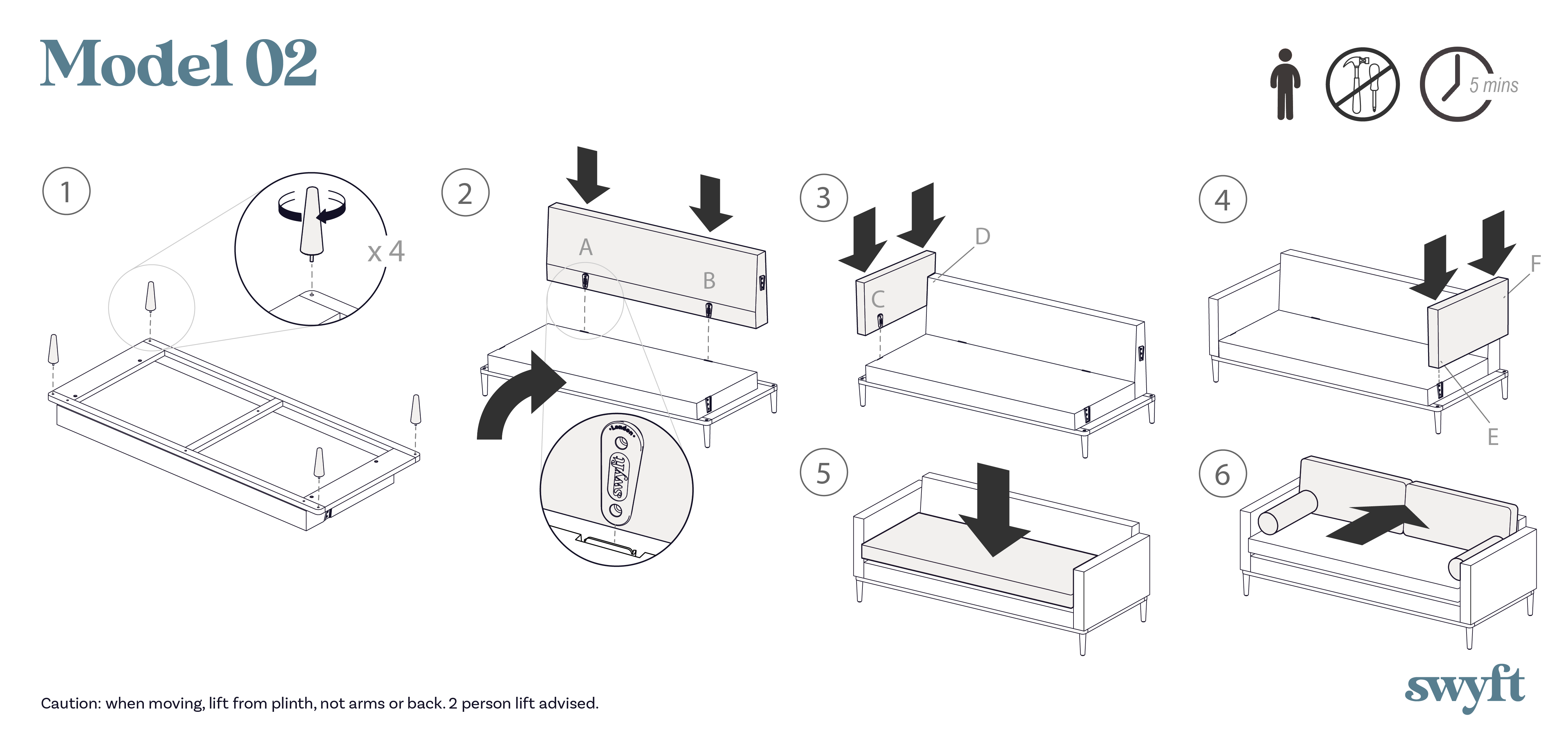 Model 02 assembly instruction drawings