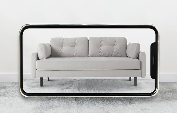 Model 04 Sofa Bed in AR Viewer