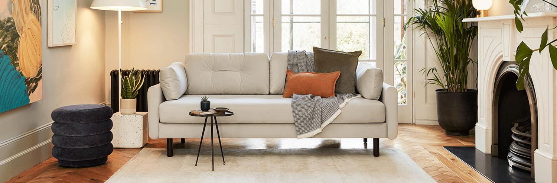 Model 04 Sofa Bed in Light Grey Velvet