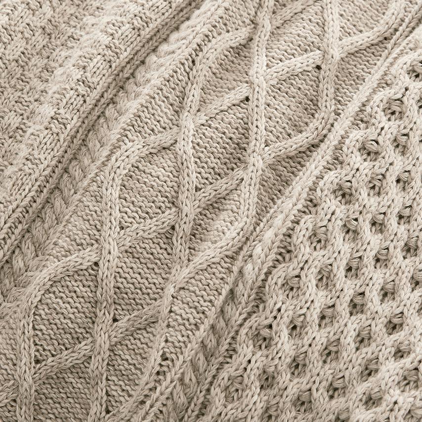 Aran Knit Throw Blanket